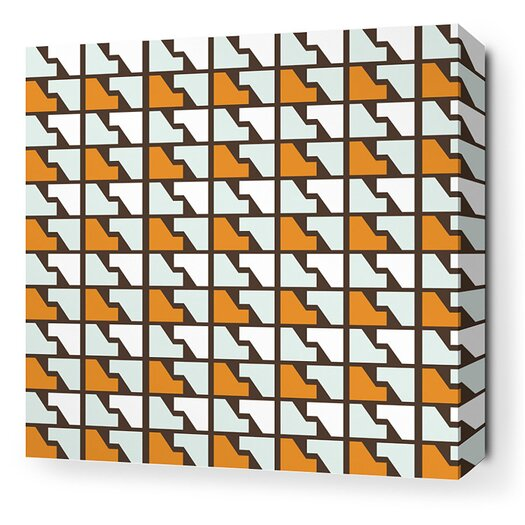 Inhabit Estrella Faux Houndstooth Stretched Graphic Art on Canvas in Sunshine