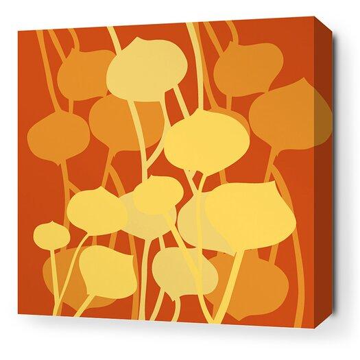 Inhabit Aequorea Seedling Graphic Art on Canvas in Rust
