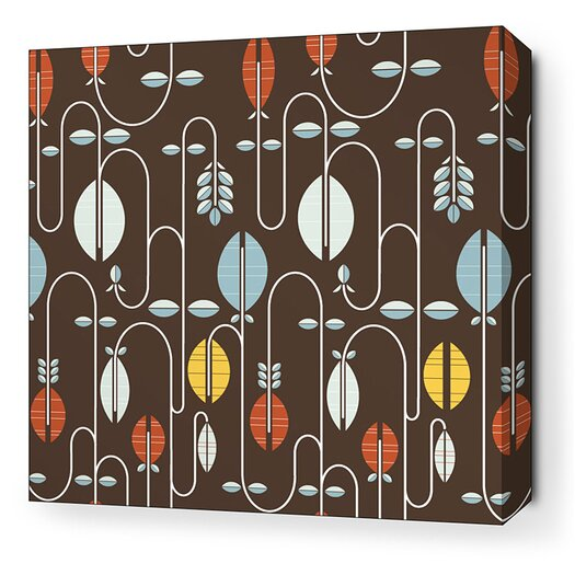 Inhabit Aequorea Carnival Graphic Art on Canvas in Chocolate