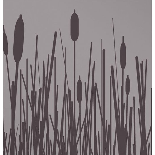 Inhabit Estrella Cattails Stretched Graphic Art on Canvas