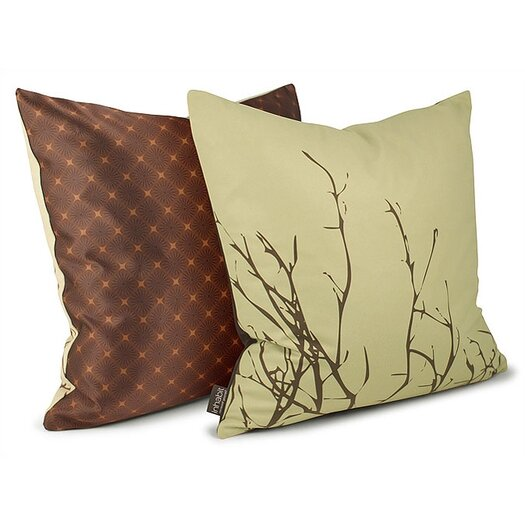 Spa Twig Suede Throw Pillow