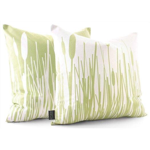 Inhabit Estrella Cattails Suede Throw Pillow
