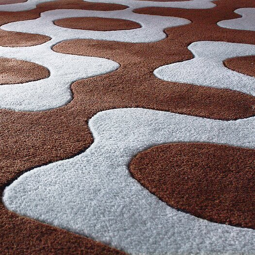 Inhabit Laugh Rug in Chocolate/ Cornflower