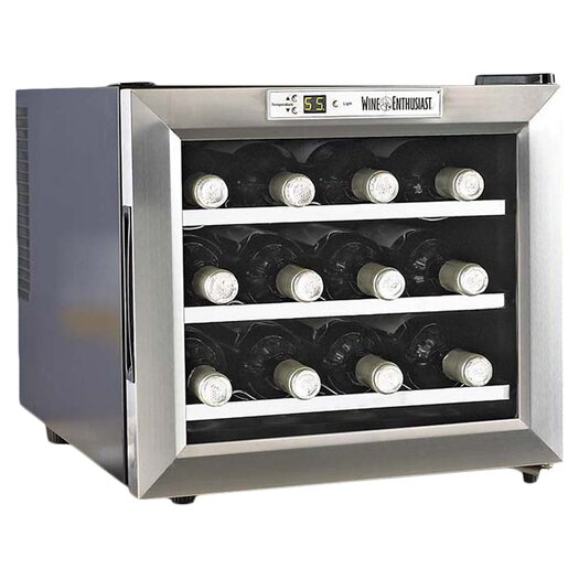 Wine Enthusiast Silent 12 Bottle Single Zone Thermoelectric Wine Refrigerator