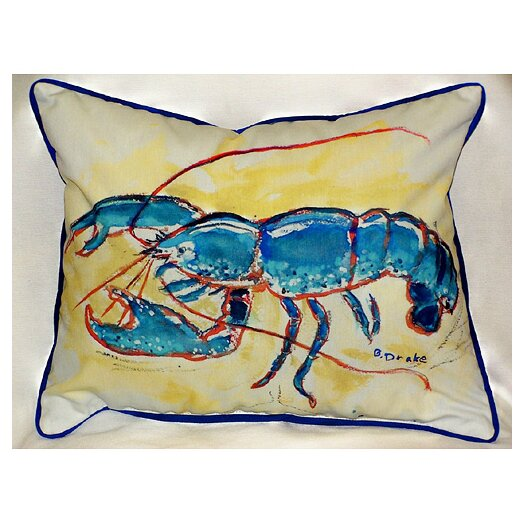 Betsy Drake Interiors Coastal Lobster Indoor / Outdoor Pillow