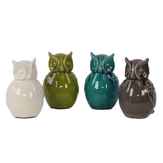 Urban Trends Ceramic Owls Figurine