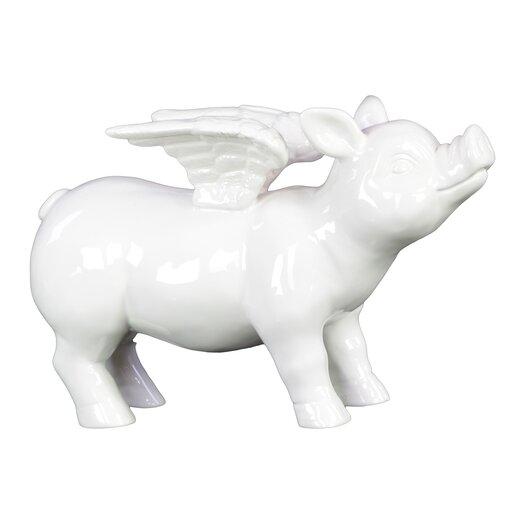 Urban Trends Ceramic Flying Pig Piggy Bank Allmodern