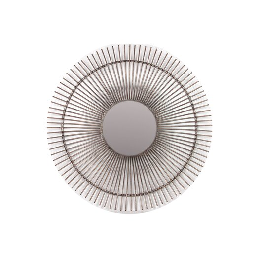 Urban Trends Metal Ray Accent Mirror Steel Finish
