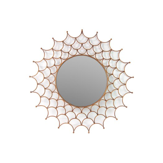 Urban Trends Metal Wall Accent Mirror Gold