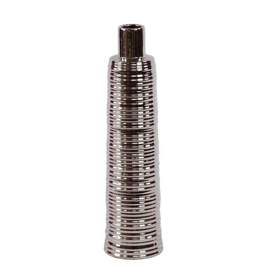 Urban Trends Ceramic Vase Silver