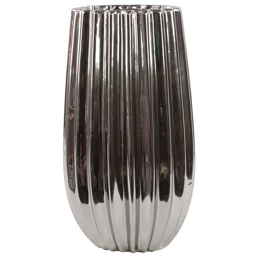 Urban Trends Ceramic Vase Silver