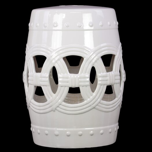 Urban Trends Ceramic Garden Stool Black