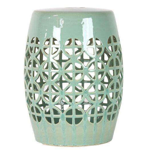 Urban Trends Ceramic Garden Stool Open Work-