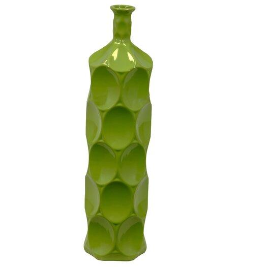 Urban Trends Ceramic Dimpled Bottle Vase