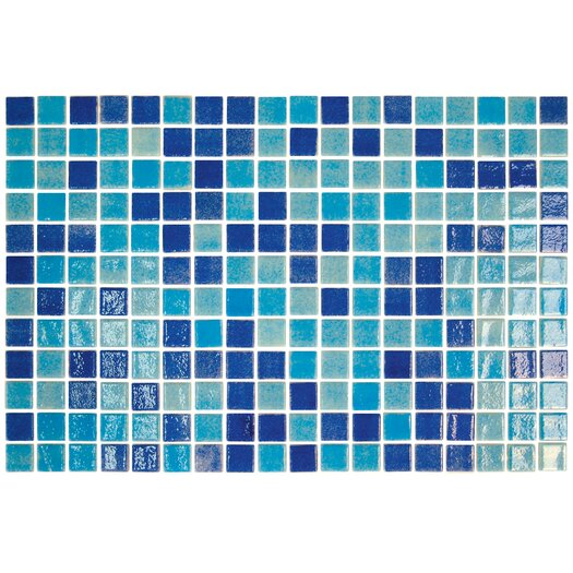 "Onix USA Colour Blend 1"" x 1"" Glass Frosted Mosaic in Piscis"