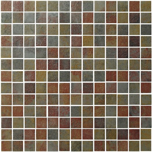 """Onix USA Earth 1"""" x 1"""" Glass Frosted Mosaic in Slate"""