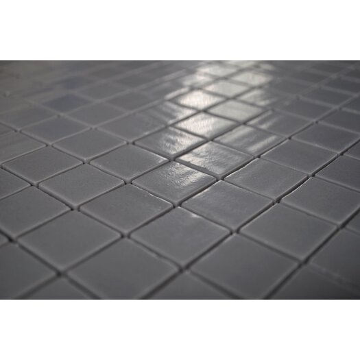 "Onix USA Nature Glass 1"" x 1"" Mosaic in Dark Grey"