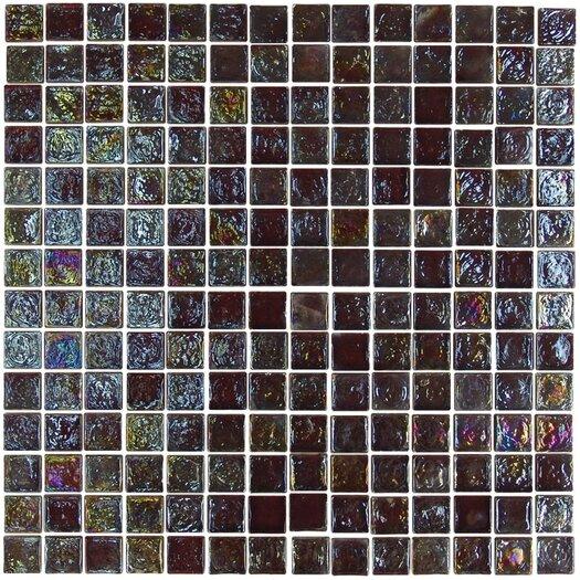 "Onix USA Geo Glass Square 4/5"" x 4/5"" Glass Mosaic in Brown"