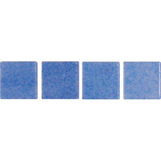 "Onix USA Nieve Antislip 1"" x 1"" Glass Mosaic in Azul Celeste"