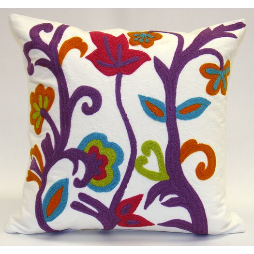 Sabira Spring Garden Cotton Pillow