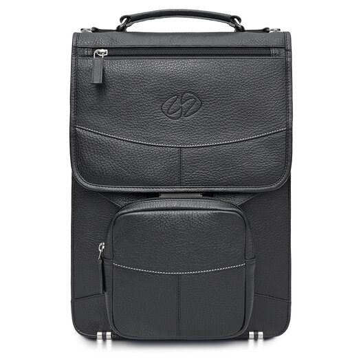 MacCase Premium Leather Laptop Flight Case with All Options