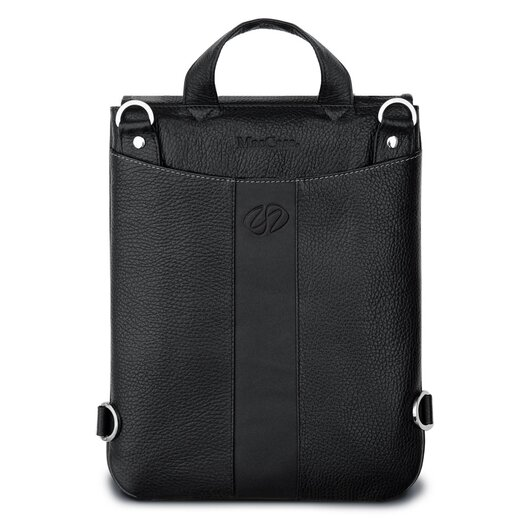 MacCase Premium Leather iPad Flight Jacket with Backpack Option in Black