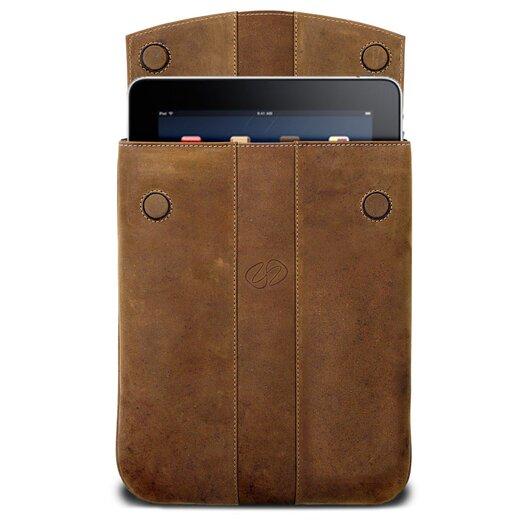 MacCase Premium Leather Vertical iPad Sleeve in Vintage