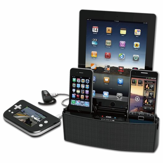 DOK 5 Port Smart Phone Charger with Bluetooth Speaker and Speakerphone