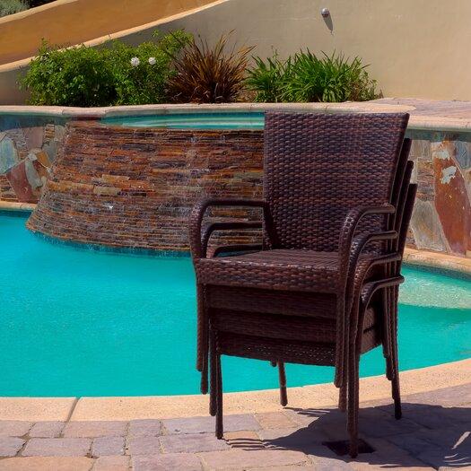 Home Loft Concept Caracas Outdoor Wicker Chair (Set of 4)