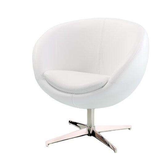Home Loft Concept Faux Leather Barrel Chair