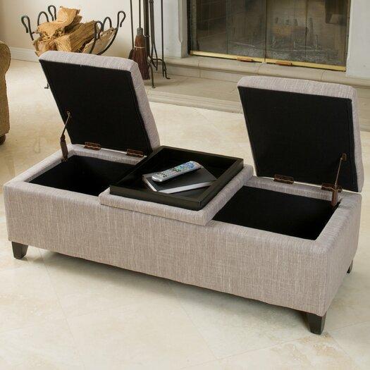Home Loft Concept Henderson Fabric Storage Ottoman