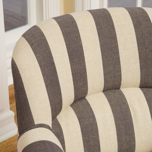 Home Loft Concept Drake Stripe Fabric Club Chair