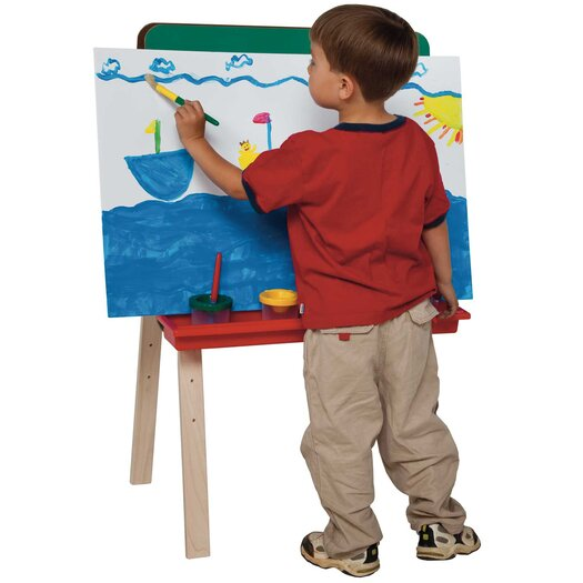 Wood Designs Tot Size Double Chalkboard Easel