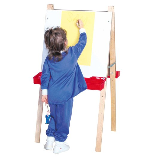 Wood Designs Double Adjustable Easel with Markerboard