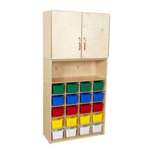 Wood Designs Vertical Storage Cabinet with 20 Trays