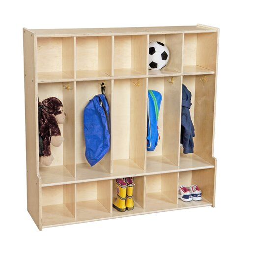 Wood Designs Contender 5 Section Seat Locker
