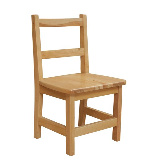 """Wood Designs 12"""" Wood Classroom Glides Chair (Set of 2)"""