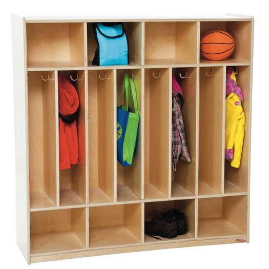 Wood Designs 8-Section Space Saver Locker