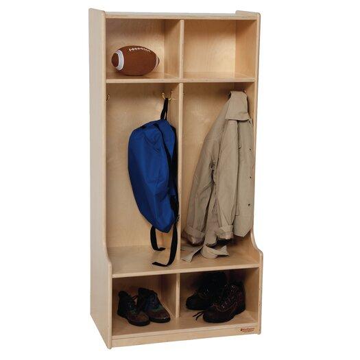Wood Designs 2-Section Offset Locker