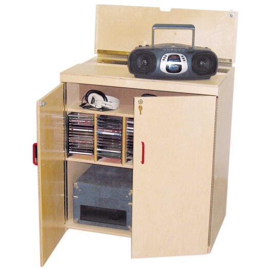 Wood Designs Lock-It-Up Center Audio Cabinet