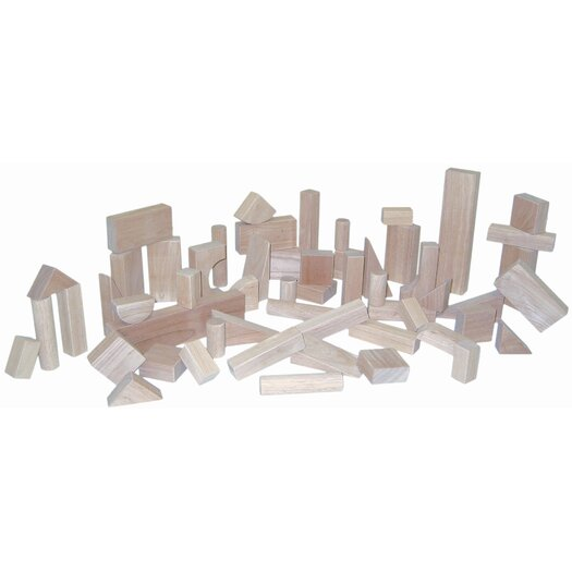 Wood Designs 56 Piece Basic Block Set