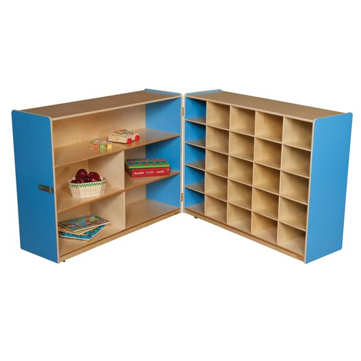 Wood Designs Tray and Shelf Fold Storage Unit without Trays