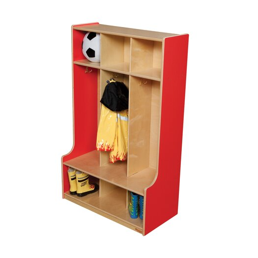 Wood Designs 3-Section Seat Locker