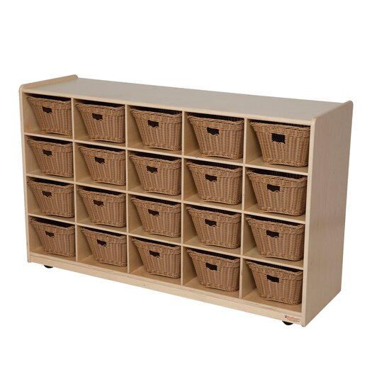 Wood Designs Natural Environment 20 Compartment Cubby