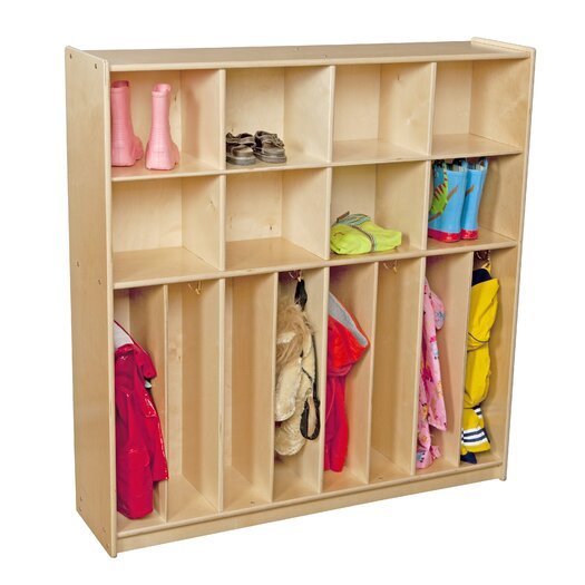 Wood Designs Contender 8-Section Baltic Birch Neat and Trim Locker