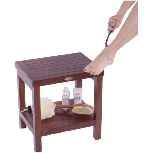 Decoteak Classic Teak Spa Traditional Shower Stool