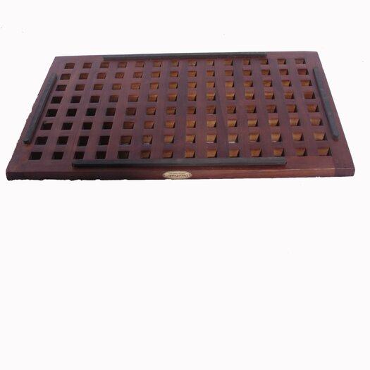 Decoteak Grate Teak Spa Shower and Floor Mat