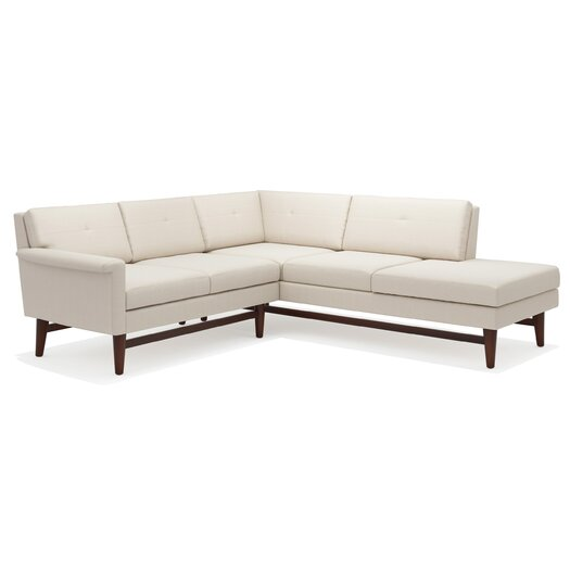 TrueModern Diggity MF Corner Sectional Sofa with Bumper