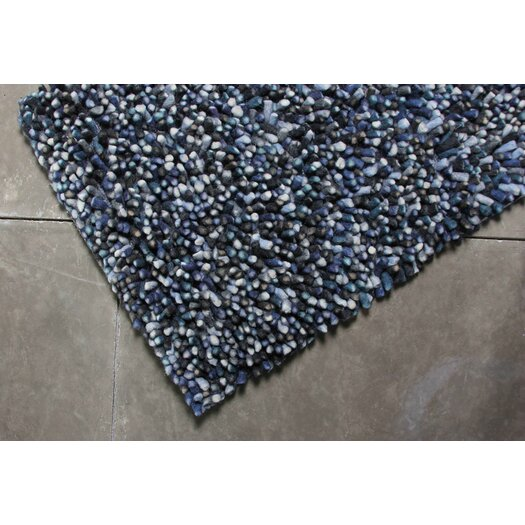 TrueModern Lil Wooly Blue Grey Rug