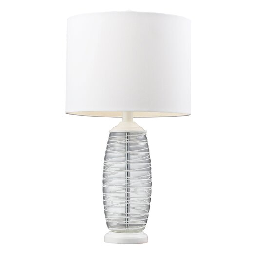 """HGTV Home Graphic Control 23"""" H Table Lamp with Drum Shade"""